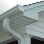 Newly installed gutters